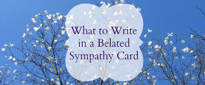 belated sympathy card