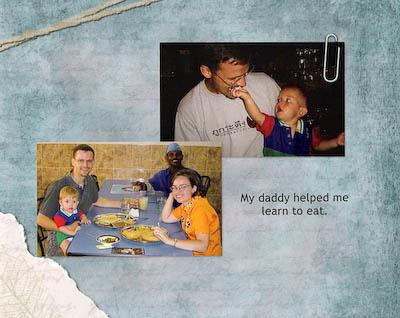 Digital Scrapbook for My Son