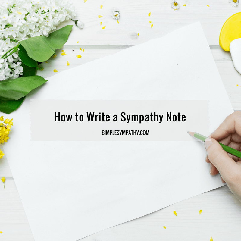 how-to-write-a-sympathy-note