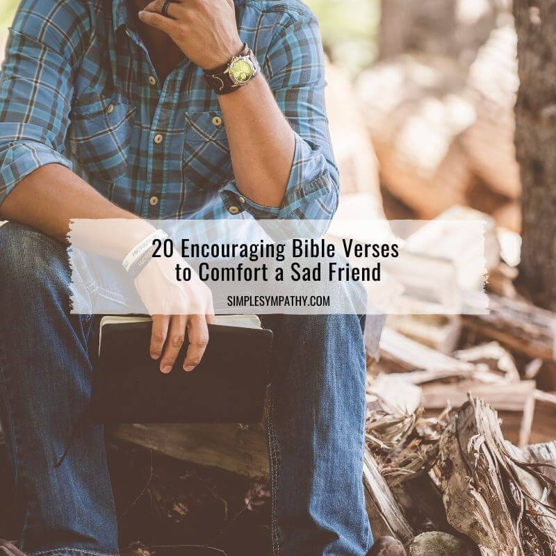 20 Encouraging Bible Verses to Comfort a Sad Friend 1