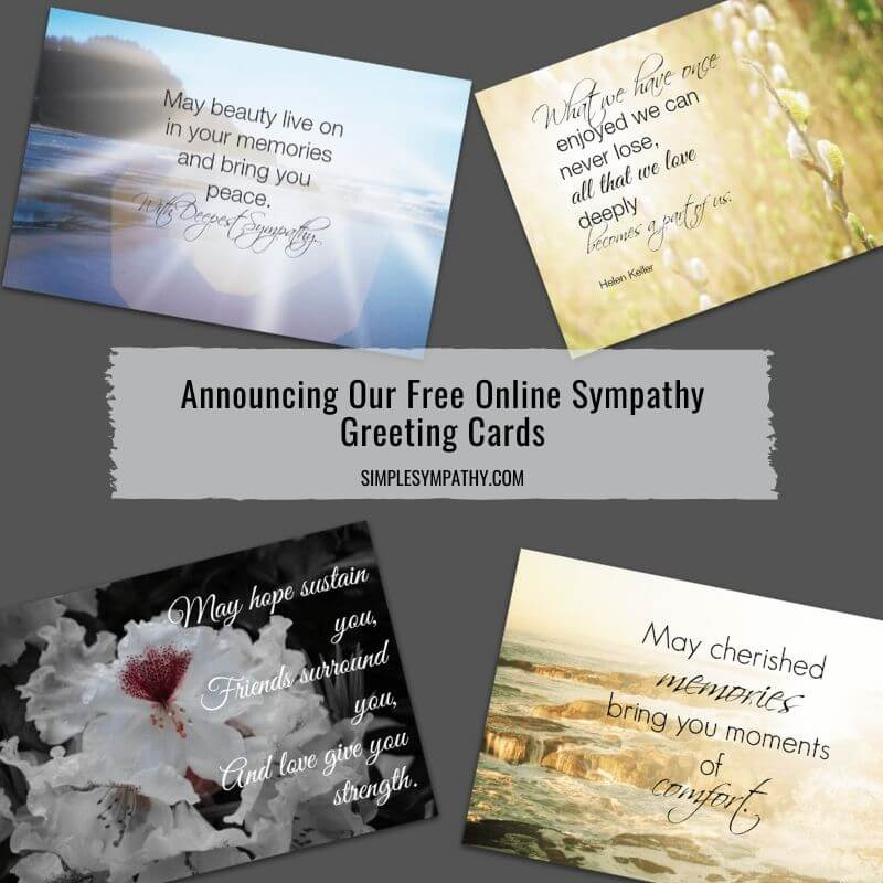 Announcing Our Free Online Sympathy Greeting Cards 1