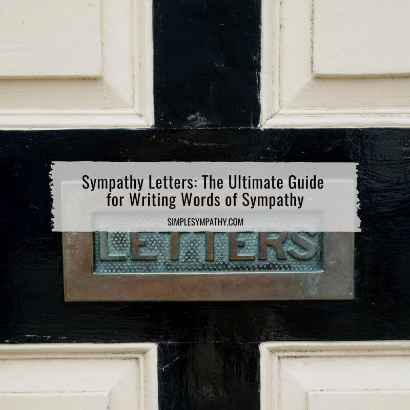 sympathy letters