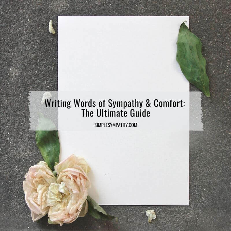 Writing Words of Sympathy and Comfort: The Ultimate Guide 3