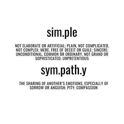 simple words of sympathy