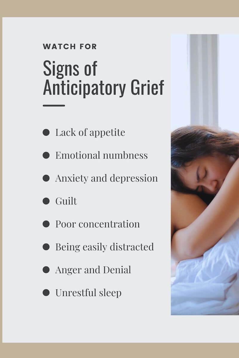 anticipatory grief list